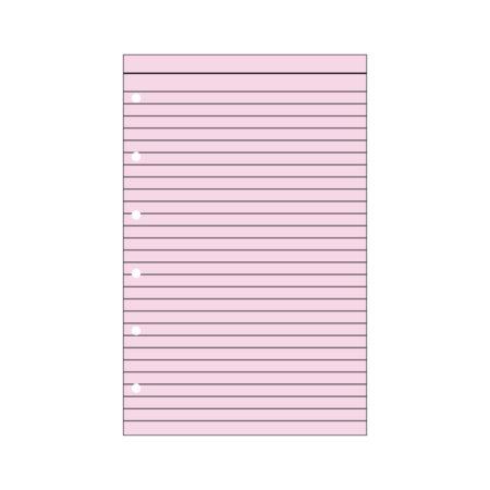 Contax Φύλλα Σημειώσεων Ροζ με Γραμμές