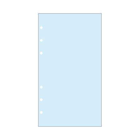 Contax Ανταλλακτικά για Organisers Φύλλα Σημειώσεων Μπλε χωρίς Γραμμές