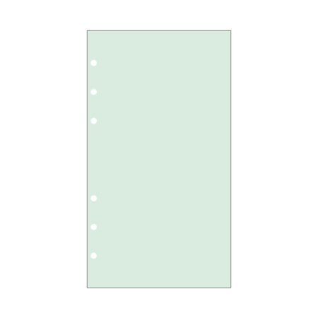 Contax Ανταλλακτικά για Organisers Φύλλα Σημειώσεων Πράσινα χωρίς Γραμμές
