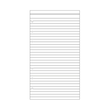 Contax Ανταλλακτικά για Organisers Φύλλα Σημειώσεων Λευκά με Γραμμές
