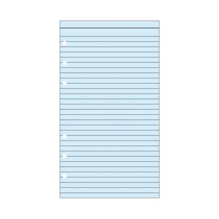 Contax Ανταλλακτικά για Organisers Φύλλα Σημειώσεων Μπλε με Γραμμές