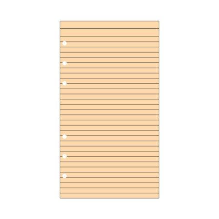 Contax Ανταλλακτικά για Organisers Φύλλα Σημειώσεων Πορτοκαλί με Γραμμές