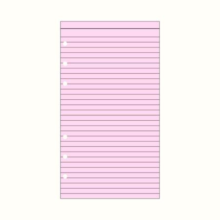 Contax Ανταλλακτικά για Organisers Φύλλα Σημειώσεων Ροζ με Γραμμές