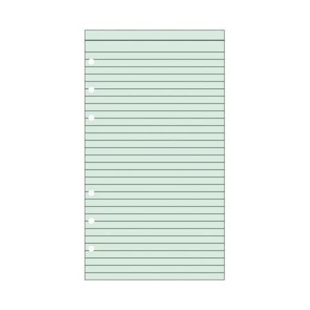 Contax Ανταλλακτικά για Organisers Φύλλα Σημειώσεων Πράσινα με Γραμμές