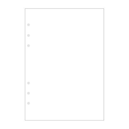 Contax Ανταλλακτικά για Organisers Φύλλα Σημειώσεων Λευκά χωρίς Γραμμές