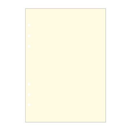 Contax Ανταλλακτικά για Organisers Φύλλα Σημειώσεων Κίτρινα χωρίς Γραμμές