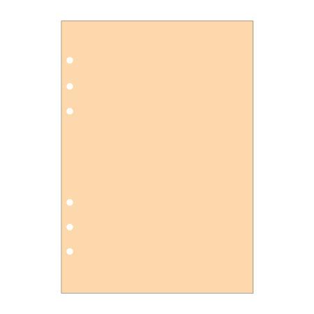 Contax Ανταλλακτικά για Organisers Φύλλα Σημειώσεων Πορτοκαλί χωρίς Γραμμές