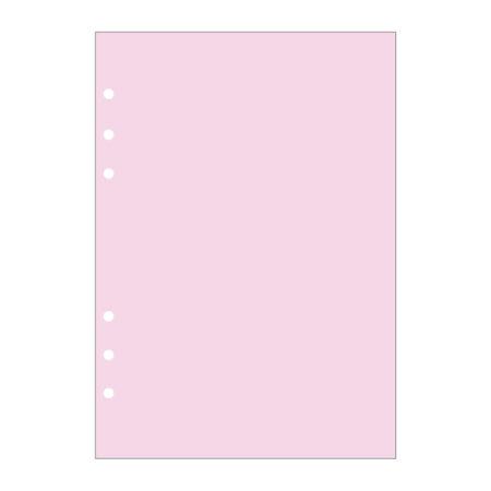 Contax Ανταλλακτικά για Organisers Φύλλα Σημειώσεων Ροζ χωρίς Γραμμές