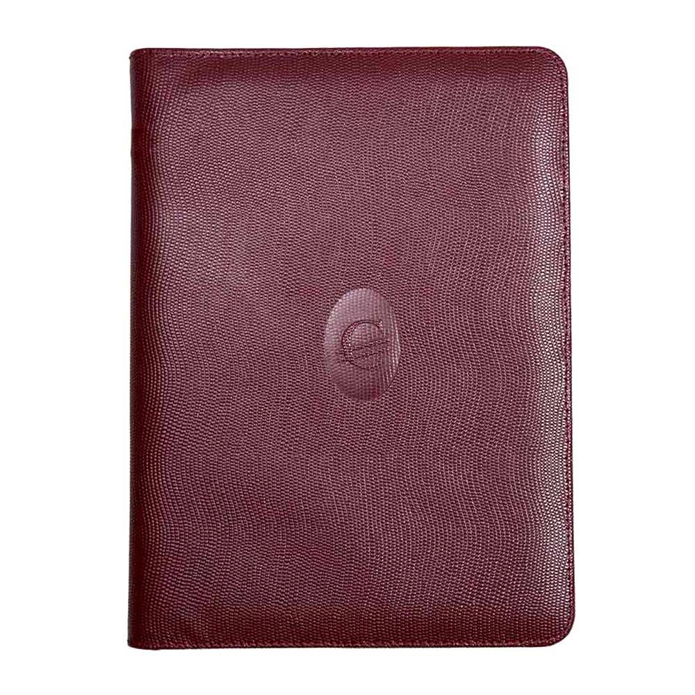 Contax Δερμάτινη Χειροποίητη Θήκη με Φερμουάρ για Βιβλιοδετημένα Ημερολόγια 17 x 25 εκ.