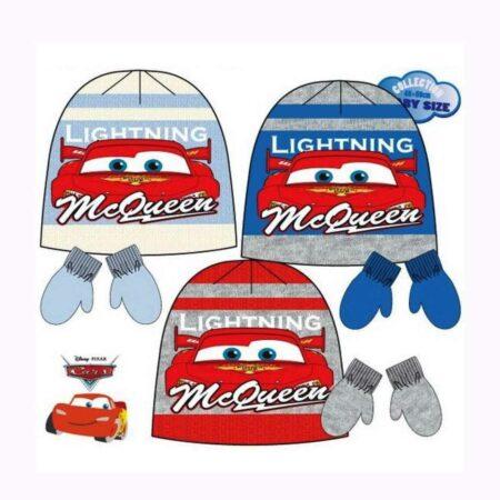 Disney Cars Παιδικό Σετ 2τμχ. Σκούφος & Γάντια