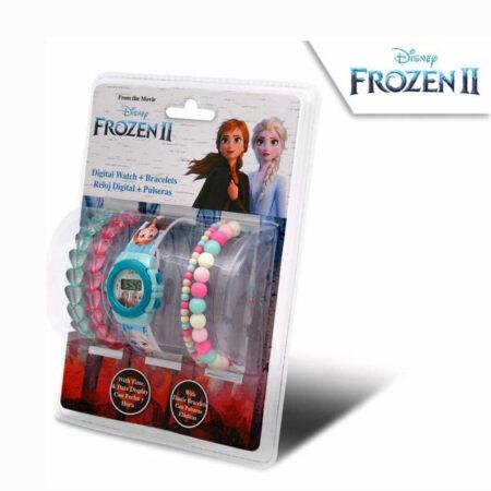 Disney Frozen 2 Παιδικό Σετ Ρολόι και Βραχιόλια