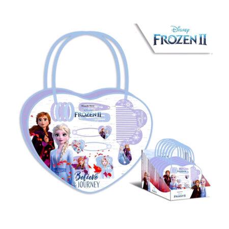 Disney Frozen 2 Τσαντάκι-Καρδιά με Αξεσουάρ Μαλλιών