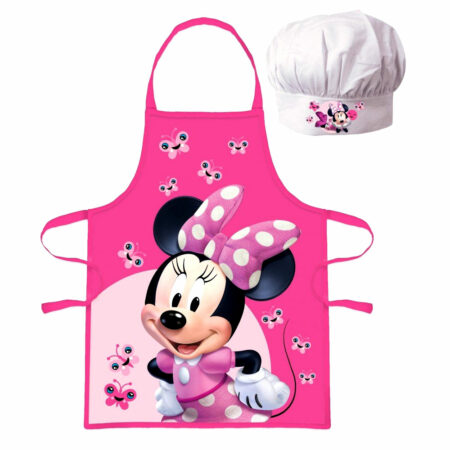 Disney Minnie Mouse Σετ 2τμχ. Παιδική Ποδιά Μαγειρικής και Σκούφος Chef!