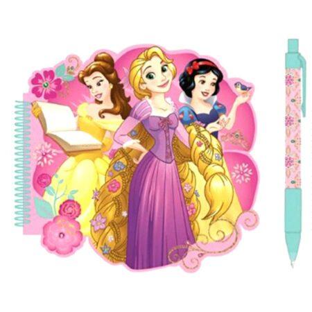Disney Princess Σετ Σημειωματάριο-Στυλό 2τμχ.