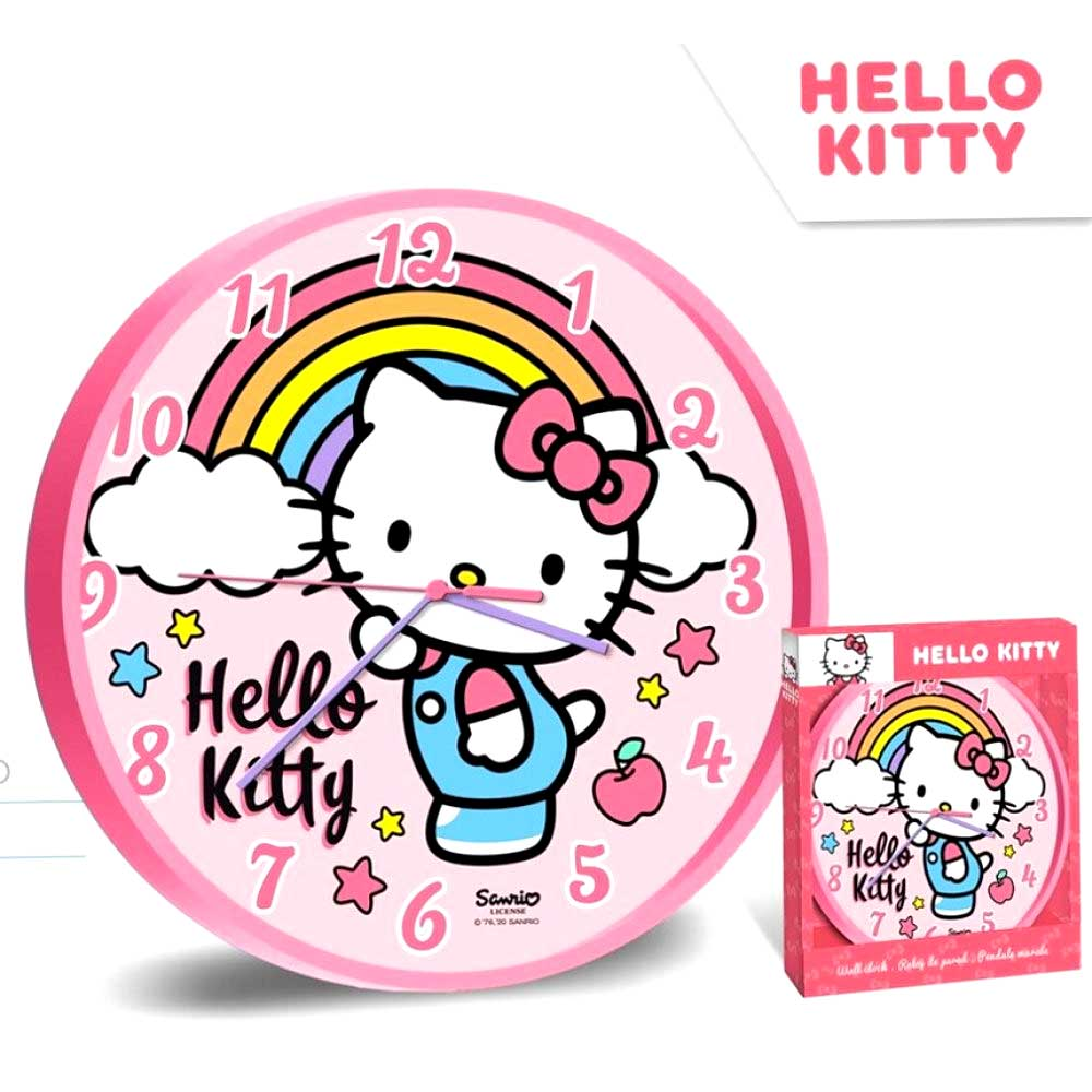 Hello Kitty Ρολόι Τοίχου 50700