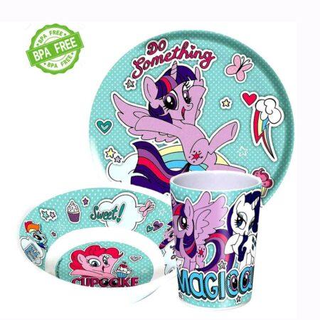 My Little Pony Παιδικό Σετ Φαγητού 3τμχ.