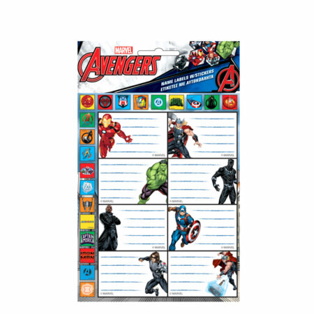 Marvel Avengers Aυτοκόλλητες Ετικέτες
