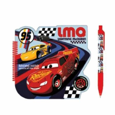 Disney Cars Σετ 2τμχ. Σημειωματάριο-Στυλό