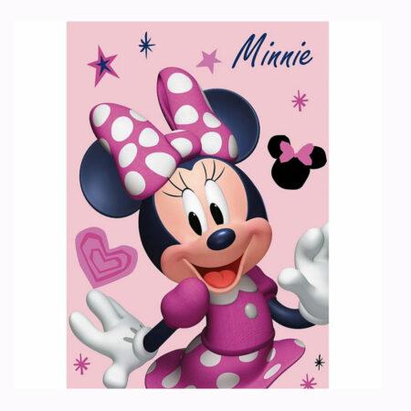 Disney Minnie Mouse Fleece Βελουτέ Κουβέρτα 100 x 140 εκ.