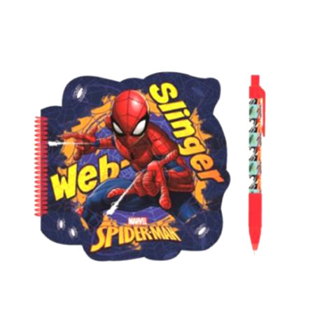Spider-Man Σετ 2τμχ Σπιράλ Σημειωματάριο-Στυλό