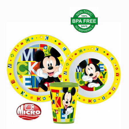 Disney Mickey Παιδικό Σετ Φαγητού 3 τμχ.