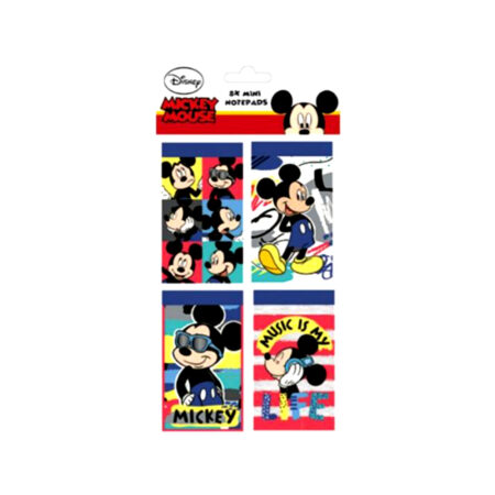 Disney Mickey Mouse Μίνι Σημειωματάρια 8τμχ.