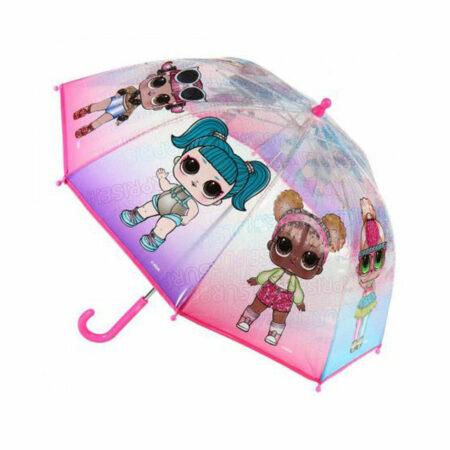 LOL Surprise Ροζ Διάφανη Παιδική Ομπρέλα 66εκ.