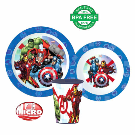 Marvel Avengers Παιδικό Σετ Φαγητού 3τμχ.