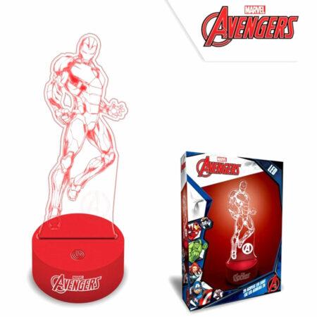 Marvel Avengers LED Φωτιστικό Αφής με 3D Εφέ