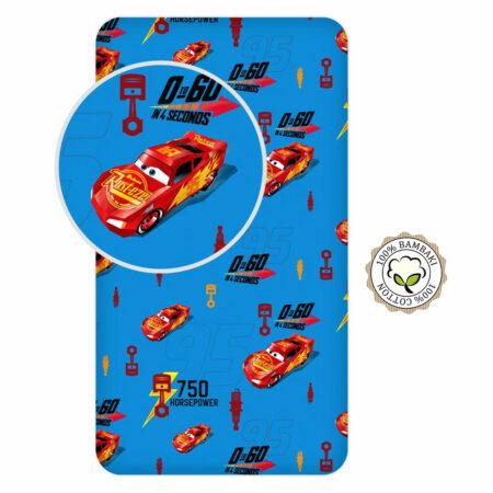 Disney Cars Βαμβακερό Σεντόνι με Λάστιχο 90×200