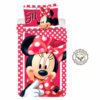 Disney Minnie Mouse Βαμβακερό Σετ Παπλωματοθήκης και Μαξιλαροθήκης