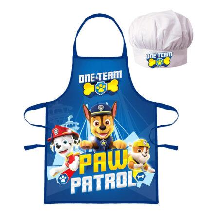 Paw Patrol Σετ 2τμχ. Παιδική Ποδιά Μαγειρικής και Σκούφος Chef
