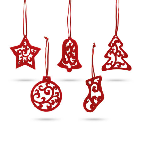 Χριστουγεννιάτικα Στολίδια Σετ 5τμχ.
