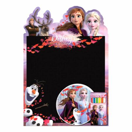 Disney Frozen Σετ Μαυροπίνακας με Κιμωλίες και Σφουγγάρι