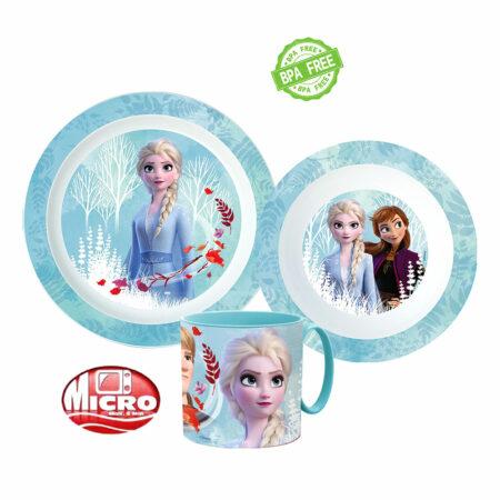Disney Frozen Παιδικό Σετ Φαγητού 3τμχ. 50455