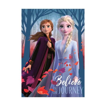 Disney Frozen 2 Fleece Βελουτέ Κουβέρτα 100 × 140 εκ.