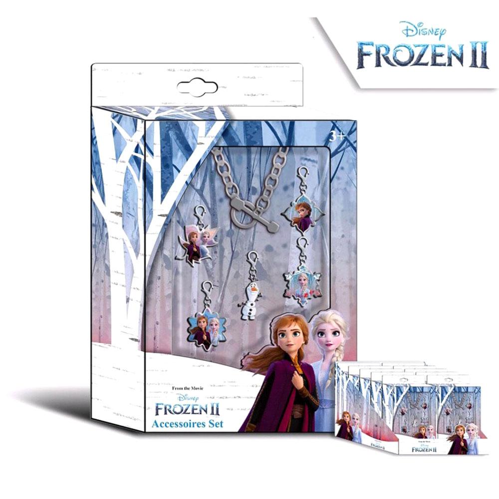 Disney Frozen 2 Παιδικό Σετ Βραχιόλι με 5 Στολίδια