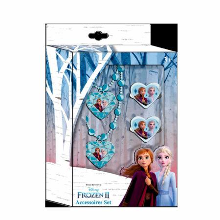Disney Frozen 2 Παιδικό Σετ Κολιέ, Βραχιόλι και Δαχτυλίδια