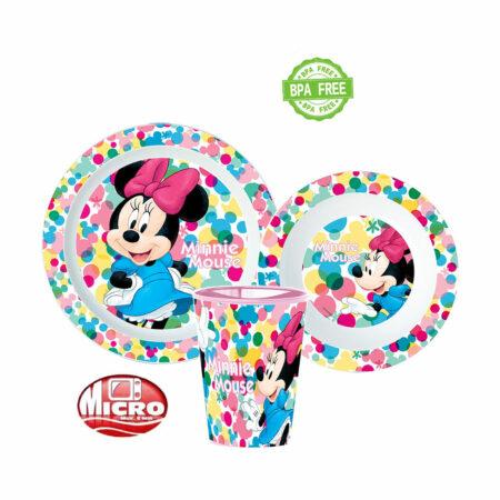 Disney Minnie Mouse Παιδικό Σετ Φαγητού 3τμχ.