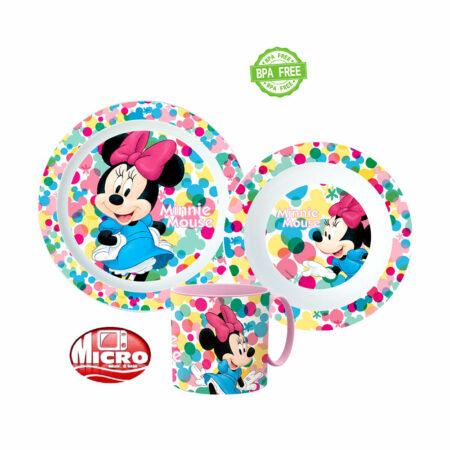 Disney Minnie Mouse Παιδικό Σετ Φαγητού