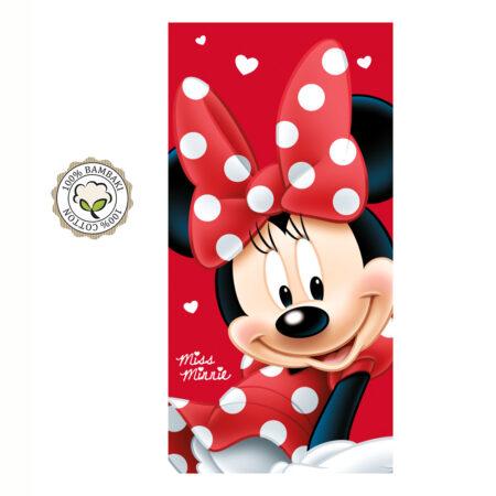 Disney Minnie Mouse Βαμβακερή Βελουτέ Πετσέτα Θαλάσσης-Μπάνιου