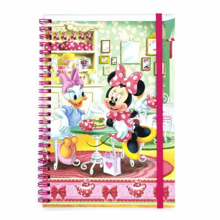 Disney Minnie Mouse Τετράδιο Σπιράλ Με Λάστιχο, 60 φύλλων Α5