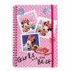 Disney Minnie Mouse Τετράδιο Σπιράλ Με Λάστιχο, 60 φύλλων