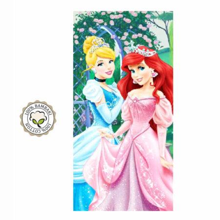 Disney Princesses Βαμβακερή Βελουτέ Πετσέτα Θαλάσσης - Μπάνιου