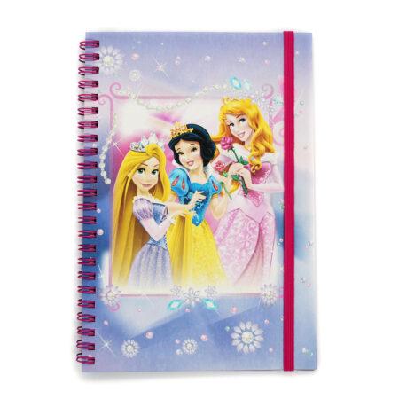 Disney Princesses Τετράδιο Σπιράλ Με Λάστιχο, 60 φύλλων