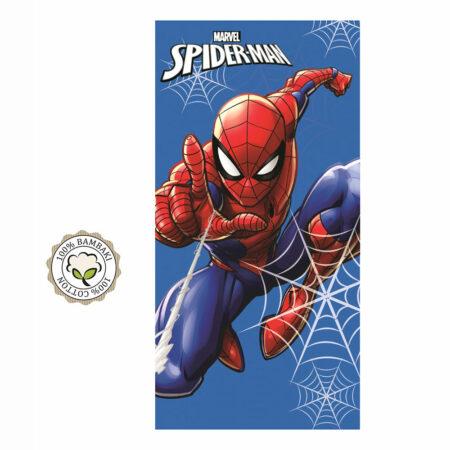Marvel Spider-Man Βαμβακερή Βελουτέ Πετσέτα Θαλάσσης – Μπάνιου