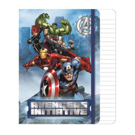 Marvel Avengers Σημειωματάριο Α5 με λάστιχο, 80 φύλλων