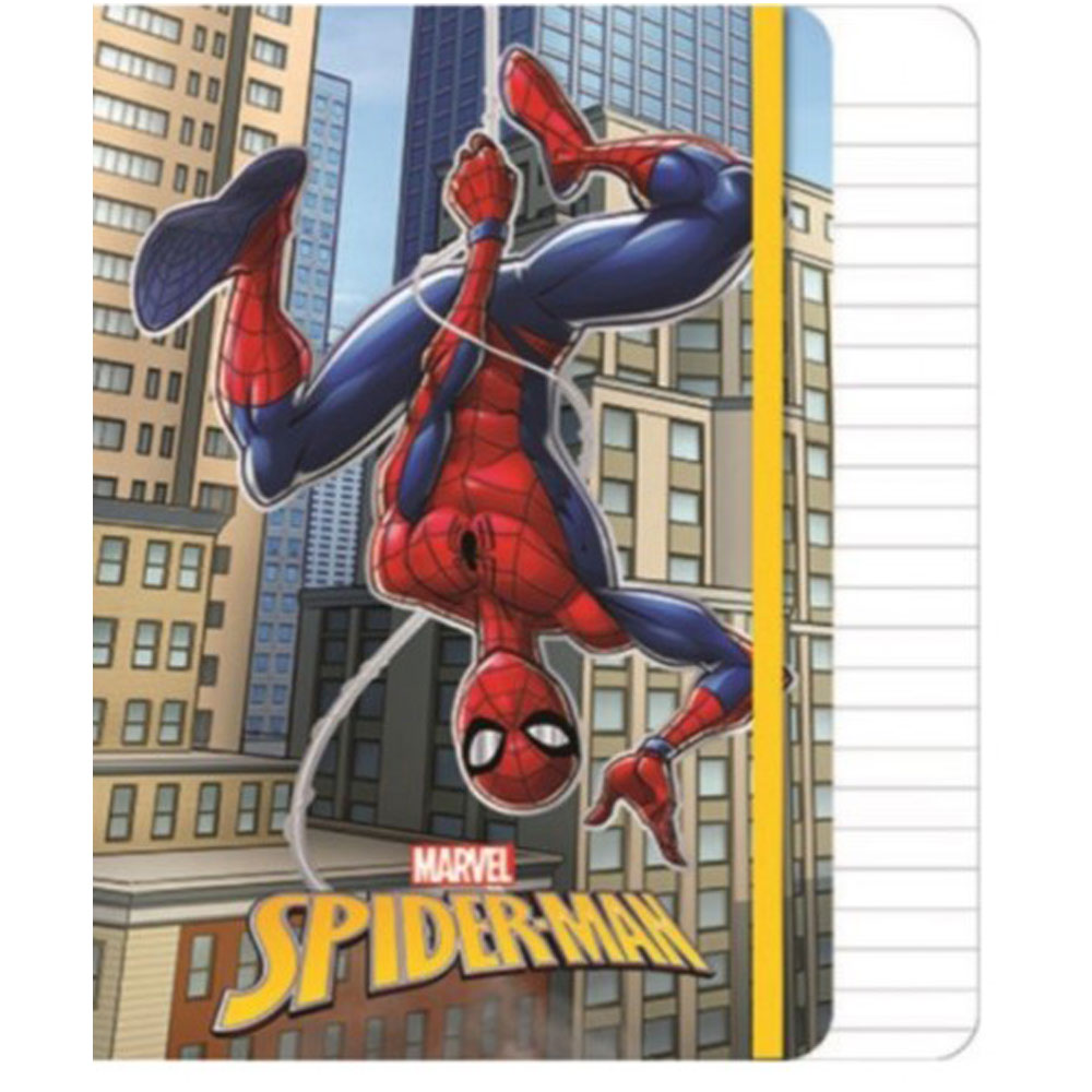Spider-Man Σημειωματάριο Α5 με λάστιχο, 80 φύλλων